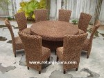 Kursi Makan Set Rattan Syntetic