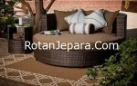 Rattan sofa round furniture for outside