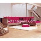 Sofa Rotan Minimalis Kamar Tamu set