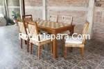 Kursi makan set rotan alam untuk villa