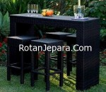 Meja makan set untuk cafe atau bar