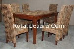 Rattan Dining Chair set cafe