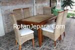 Rattan Dining Chair set apartemen