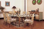 Rattan dining chair set cluster
