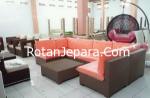 Kursi Villa kamar tamu set furniture sintetis