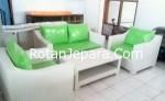 Sofa Apartemen Ruang tamu set furniture rotan