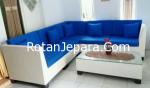 Sofa Cluster ruang tamu set furniture rotan