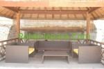 Sofa rotan Sintetis set untuk Restoran