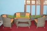 Sofa rotan sintetis set untuk Resort dan cafe