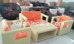 Kursi Apartemen kamar tamu set furniture rotan