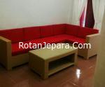 Kursi Apartemen ruang tamu set furniture sintetis