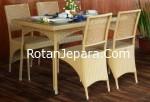 Kursi makan set murah untuk villa