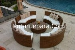 Round Chair and table Synthetic
