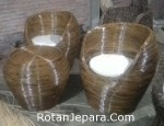 Kursi teras rotan core order showroom mebel Bali