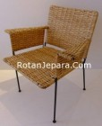 Natural wicker arm chair for hotels australia
