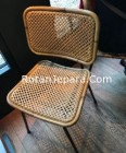 Natural rattan dining chairs indonesia furniture