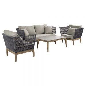 Rope Mixed Teak Premium Garden Furniture