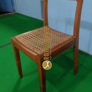 California Teak Wicker Side Chair