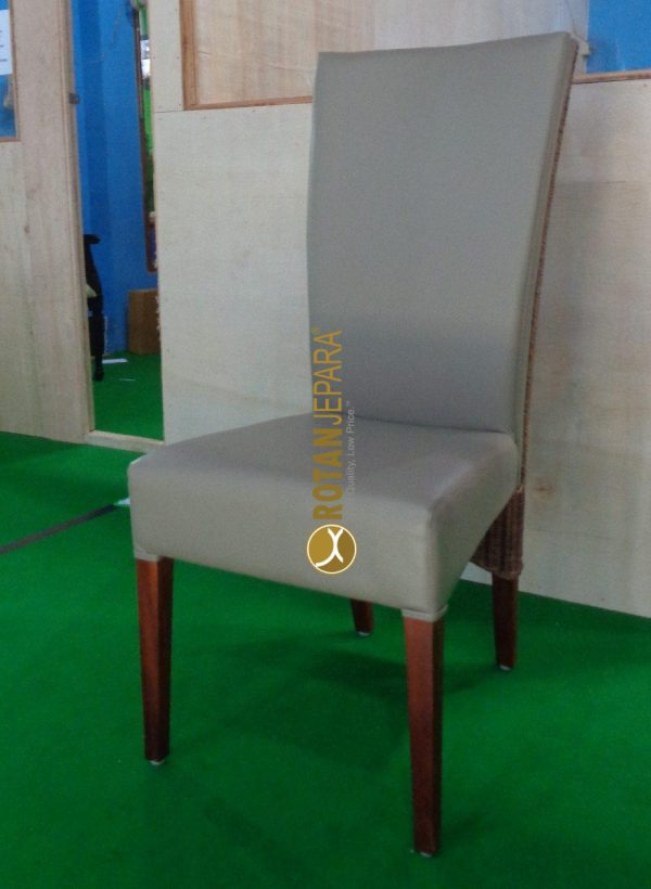 Domino Natural rattan woven upholstery chair