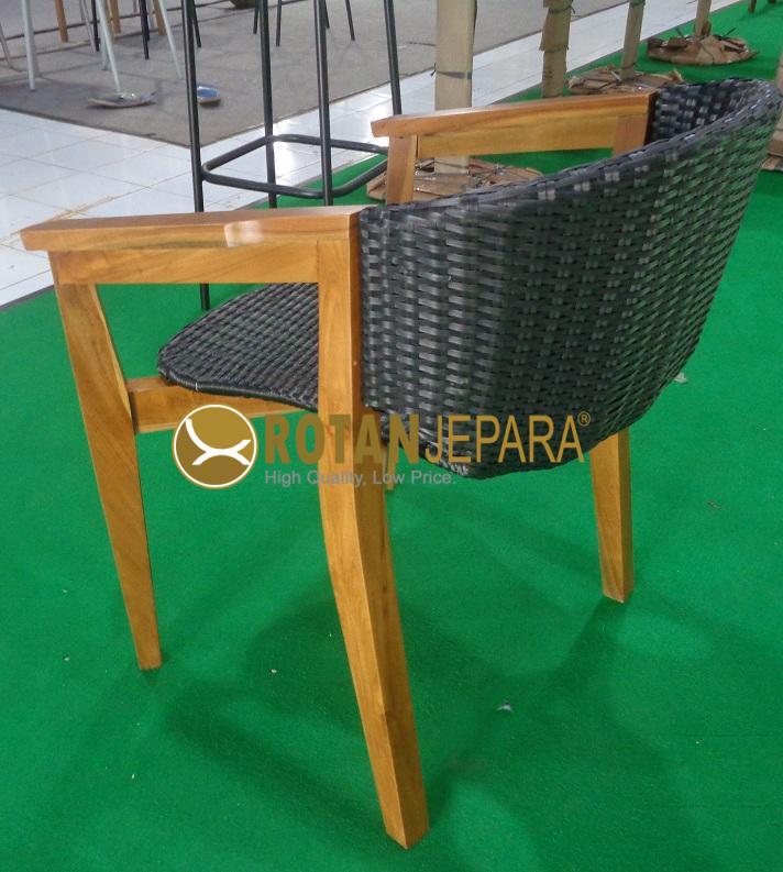 Dubai Teak Wicker Arm Chair Apartment Furniture