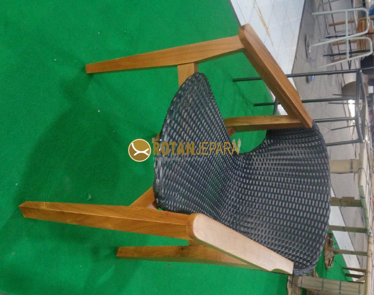 Dubai Teak Wicker Arm Chair Hotel Furniture