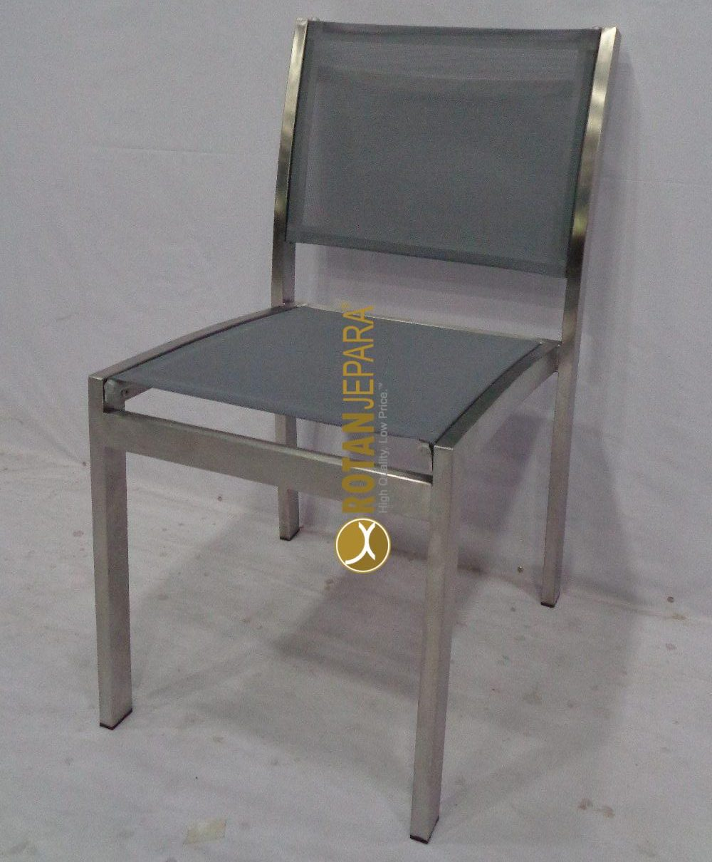 Loredo Side Chair Stainless mixed sling furniture