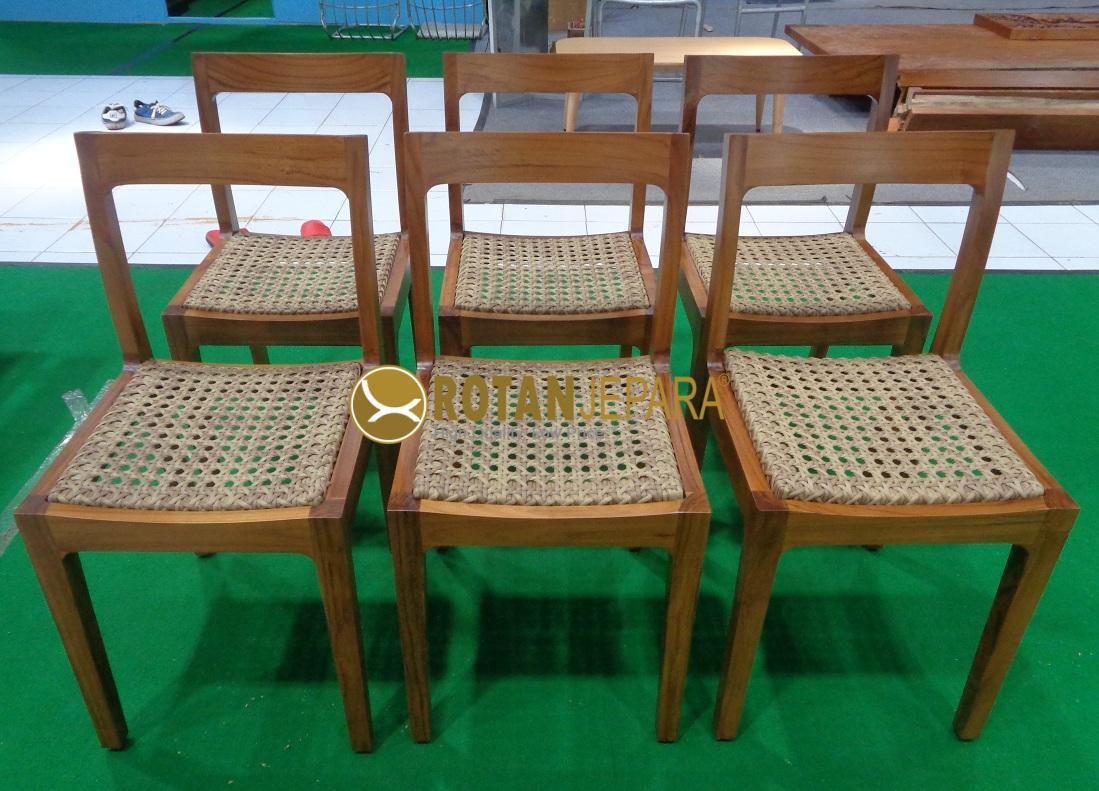Maldives Teak Wicker Side Chair
