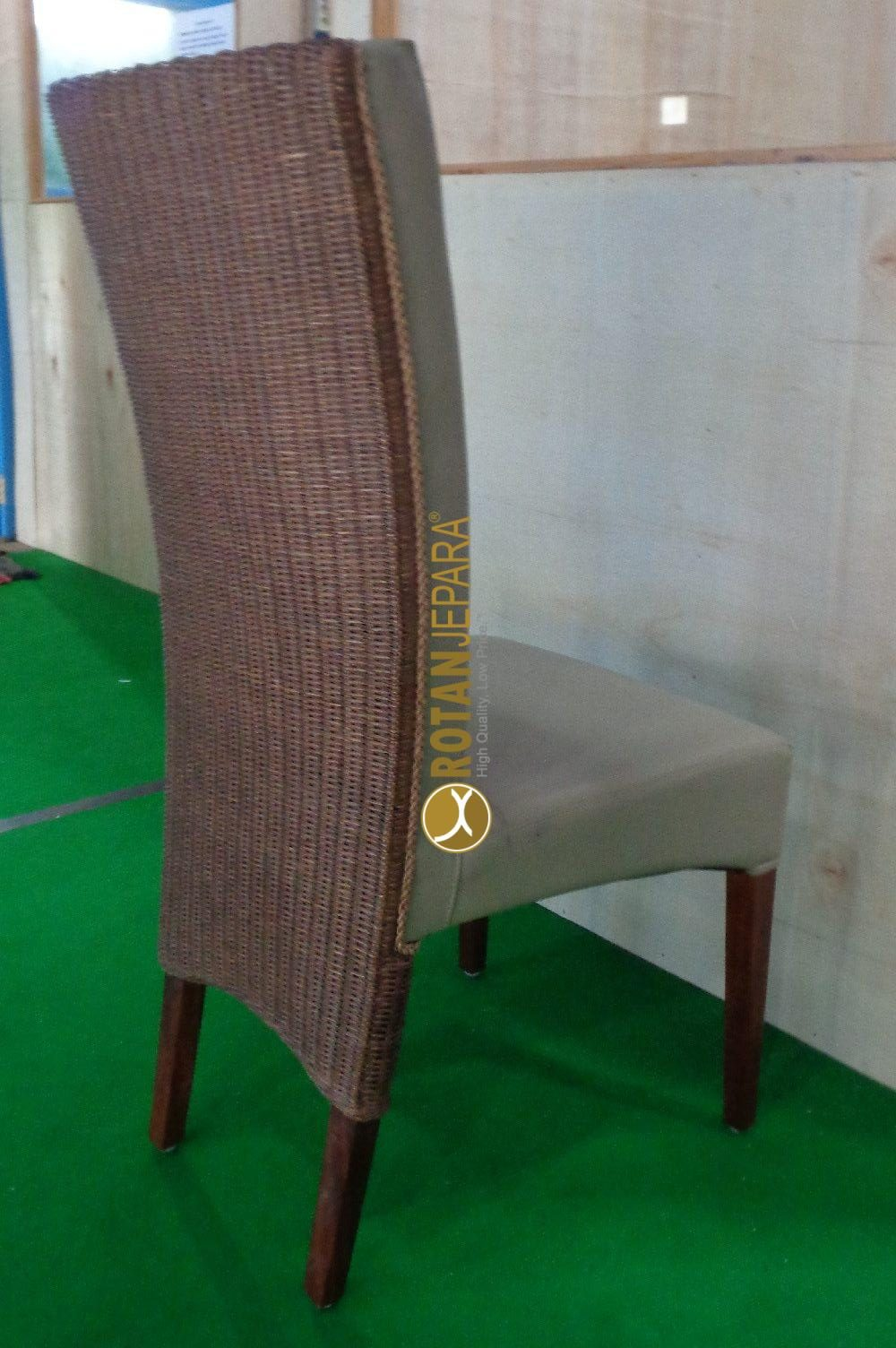 Natural rattan woven upholstery chair indoor furniture apartment