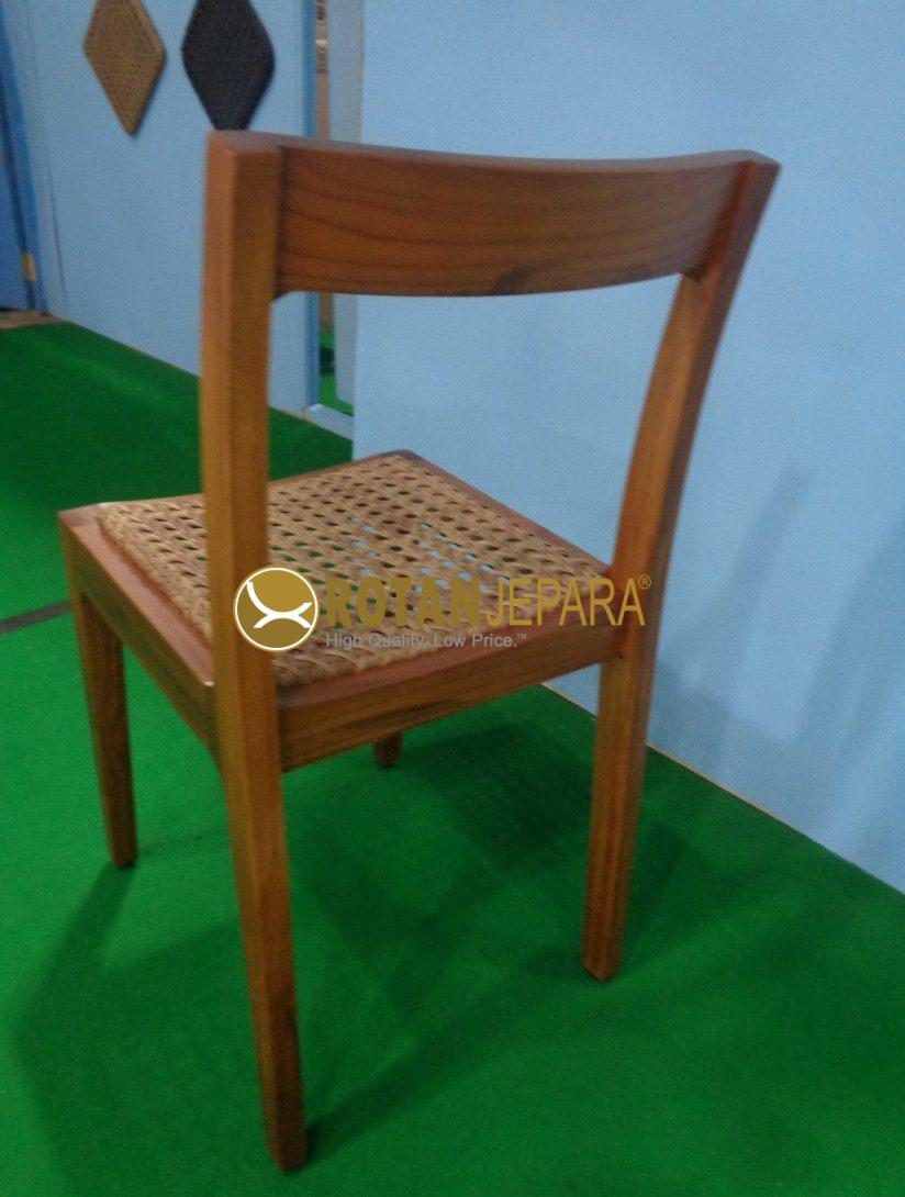 Newyork Teak Wicker Side Chair