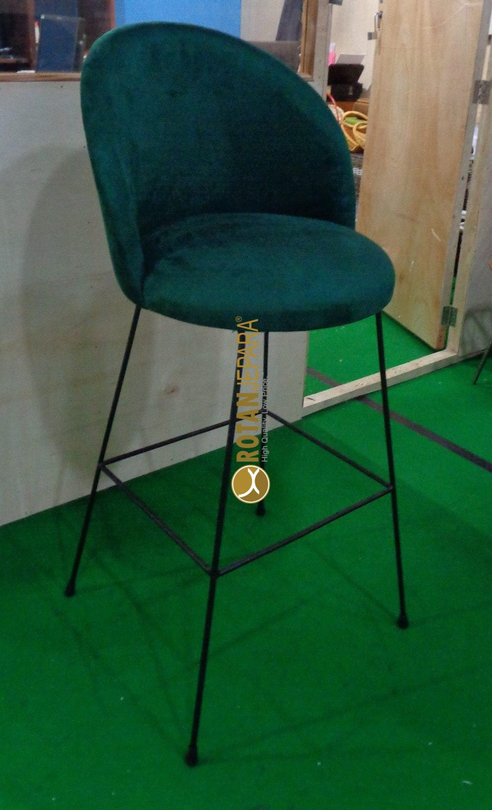 Orlando Bar Chair iron with upholstry Furniture
