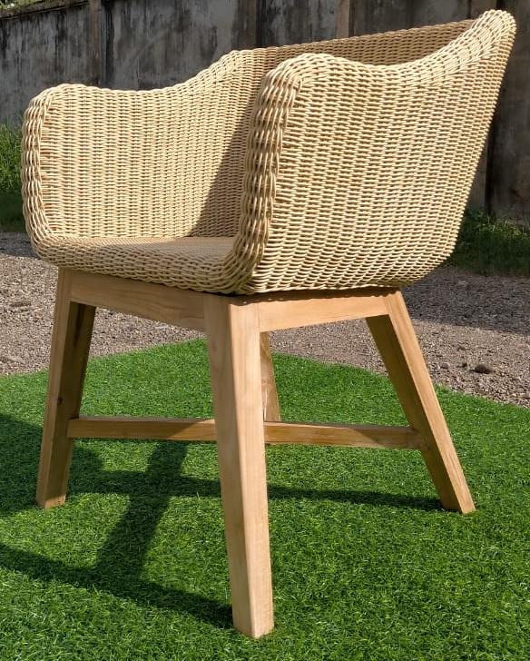 Oziro Arm Chair Teak Wicker Outdoor Furniture