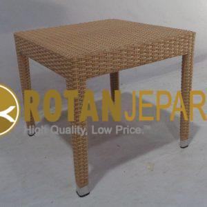 Vintage Side Table Wicker Pool Furniture